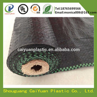 Heavy duty pp woven black plastic ground cover