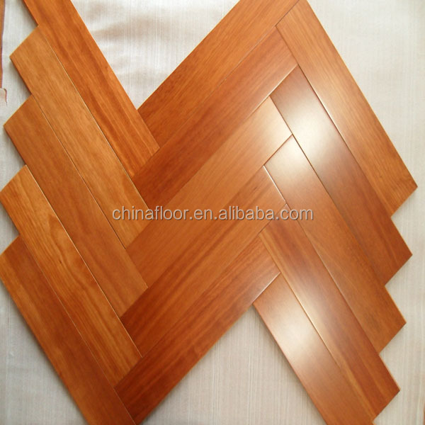 luxury T&G joint prefinished smooth Kempas solid wood floor