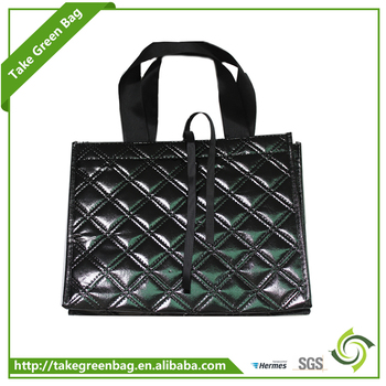 Recyclable new design non-woven coated fabric shopping bags
