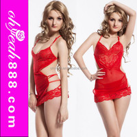 Clearance sale red lace sexy babydoll the most seductive sexy lingerie