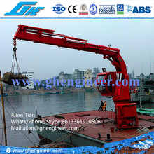 CCS Approved marine knuckle pedestal crane 5T@20M