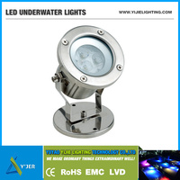 YJS-0002 IP68 12V DC underwater pool foutnain 3W RGB LED lights tubes