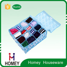 Foldable non-woven fabric clothes/sock/underware storage box with lid