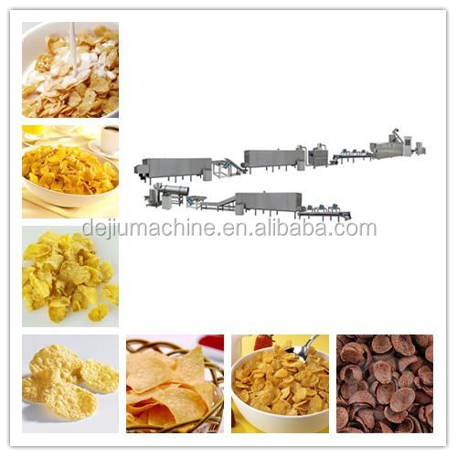 2017Multi-function corn flakes breakfast production line with CE certificate