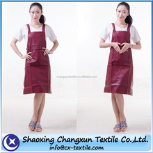 black PU leather waterproof oilproof apron
