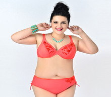 red Plus Size Bikini set Underwire Top for Big and Beautiful Womens, Big Size Swimwear up to 10XL