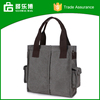 Wholesale In Stock Business Style Canvas Handbag With 2 Sides Pockets
