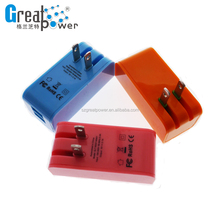 red color travel charger dual pot USB travel charger EU US plug for your phone toys