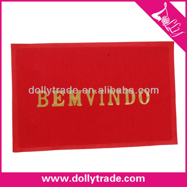 BEMVINDO Logo Factory Directly Red PVC Floor Door Mat