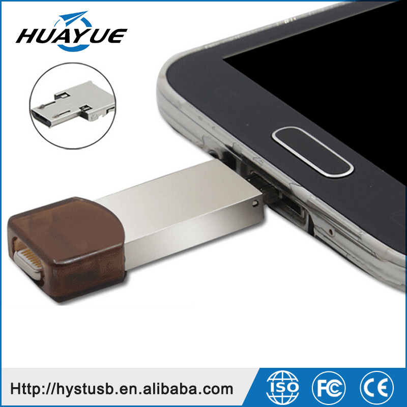 3 in One New Custom Micro USB Flash Drives 32GB 64GB 128GB OTG USB Flash Drives for Iphone , 5S, 6S , IOS 9 , Samsung