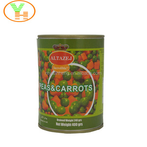 Hot Sale Delicious Healthy Canned Green Peas With Carrot
