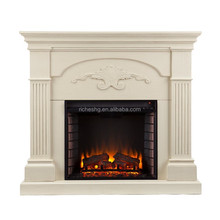 white coating MDF 3d electric fireplace price,french fireplace,artificial fireplace flames