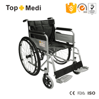 Rehabilitation Therapy Supplies topmedi chrome plating wheelchair