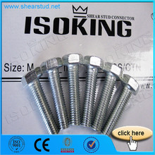 High Strength 10.9 Grade Galvanized Screw Bolts Nuts Washer
