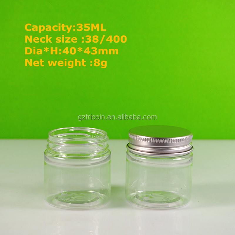 38mm lid jar China jar plastic jar for hand butter