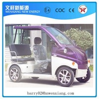 3 Seats Electric Sightseeing Vehicles for 2 Passengers Made in China