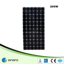 200 Watt normal dimension poly or mono pv solar panel in dongguan with CE/TUV/IEC certificates