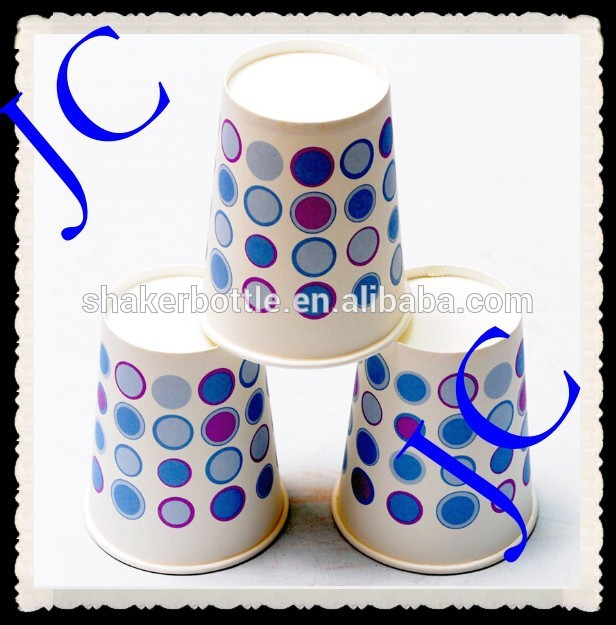 Disposable dots design hot drinking 8oz promotional paper cups