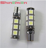 ERROR FREE T10 CANBUS W5W 194 168 5050 SMD 13 LED PURE WHITE LIGHT BULB LAMP
