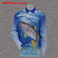 Latest style custom made high quality fishing shirt