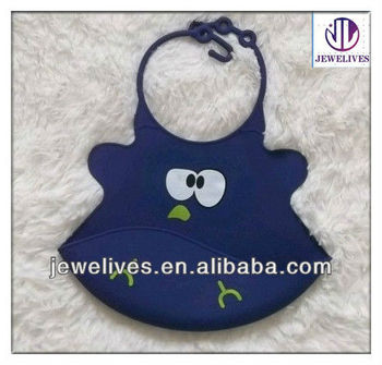 Silicon baby bibs with Infant Food Feeding Pocket for 6 month to todders bib