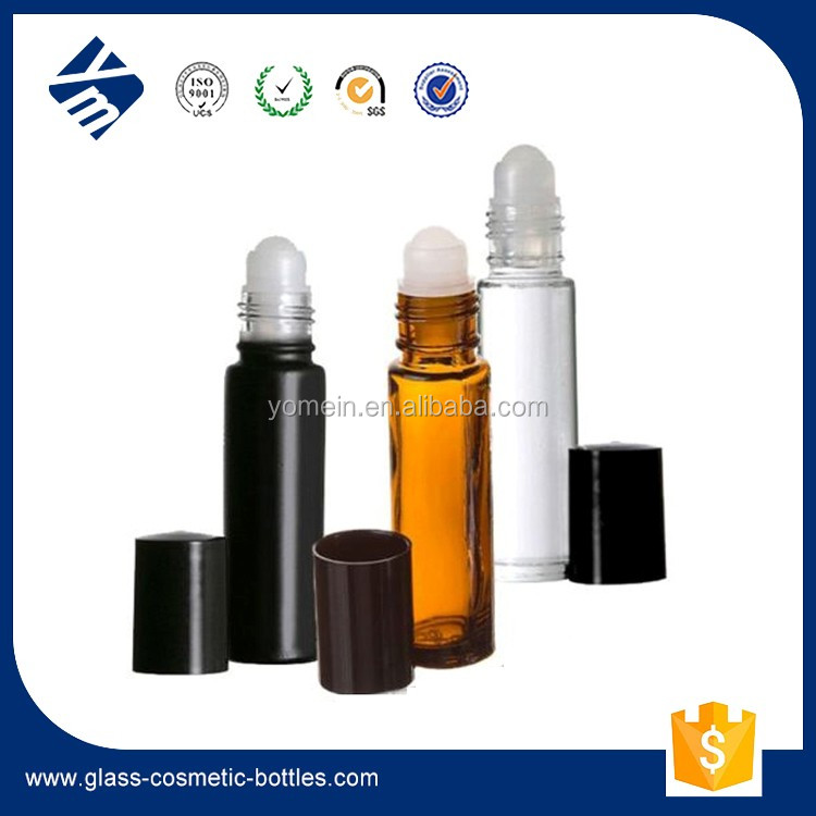 Amber Glass Bottle Roller Ball/10ml Essentail Oil/Perfume/Hair Oil Glass Bottle