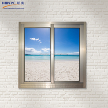 China gold supplier cheap price office sliding glass window