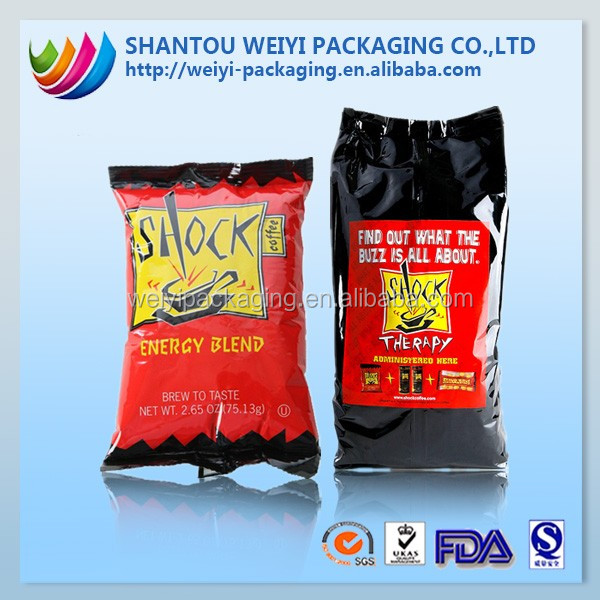 hot laminated inflatable plastic food packaging bag for chips