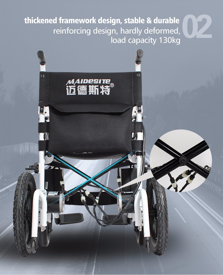Medical lightweight folding disabled power electric wheelchair with cheap price (4).jpg