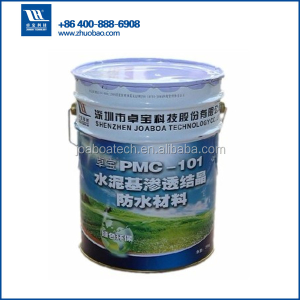 waterproof wall materials cementitious capillary crystalline waterproofing