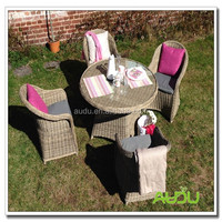 Audu Grey Round Rattan Garden Furniture