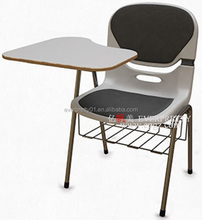 Mesh Fabric Chair with writing board school chair with writing board and book rock