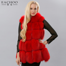 China factory handmade sleeveless real fox fur vest with fox fur hats