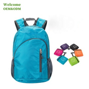 cheap custom promotional lightweight nylon waterproof foldable backpack