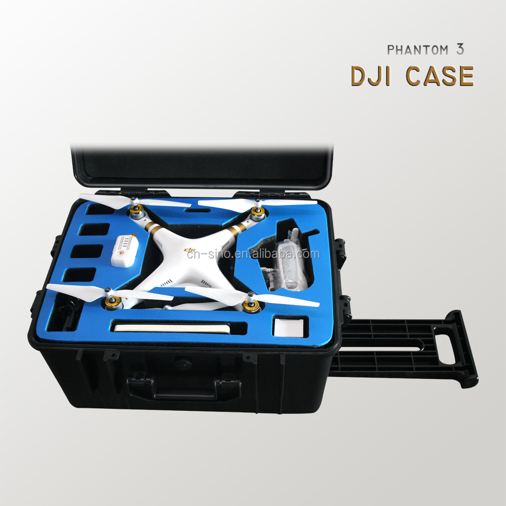 Rugged Waterproof tool Carrying wheeled Case for DJI phantom3 Quadcopter Drones