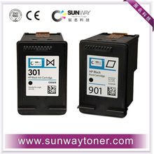 Refillable ink cartridge for hp 301