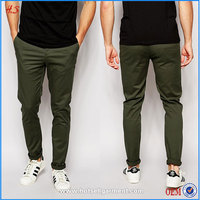 Hot Sale Wholesale Cheap Price Fashion Chinos / Fashion Style Stretch Fit Chino Trousers Men Dark Khaki Chino Pants for Men