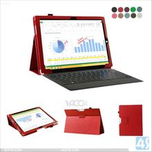 slim fit back stnd pu leather case cover for Microsoft surface pro 3 tablet 12 inch P-MICPRO3SPCA002