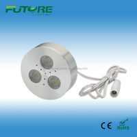 12V 3W dimmable mini led puck light,led under cabinet light