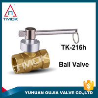 "BRASS LOCKABLE LEVER BALL VALVE - BSPT - 1/2"" to 4"" PNEUMATIC WATER AIR IN TMOK"