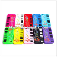 Colorful piano keyboard design silicone case for iphone4/4s