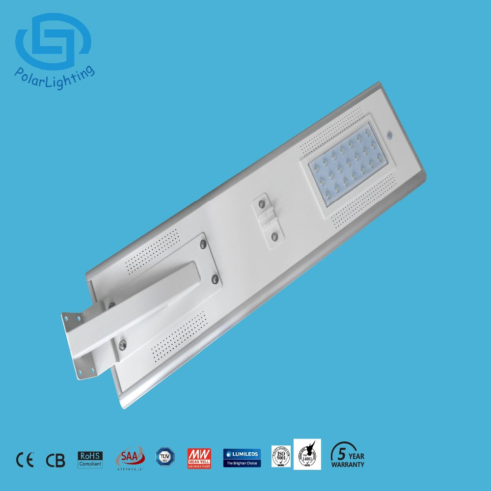 25W Outdoor Solar Road Yard Garden Led Street Light All In One