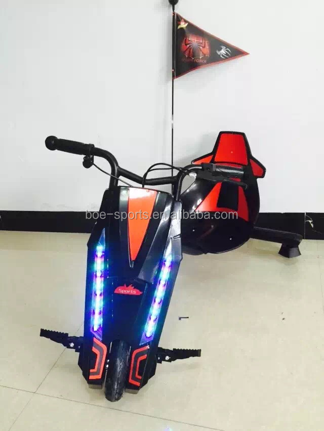 LED light agogo coolbaby easy power rider for sale 360 kids kick new smart drifting 3 wheel electric scooter drift trike