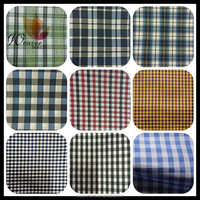 wholesale 100%polyester Scotch plaid fabric/ polyester taffeta mini checked fabric for lining fabric