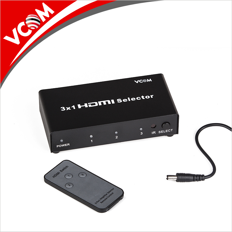 VCOM 4K Video Switcher 4 Port HDMI Switch 4x1 with RF Remote Supply For PC TV Box Computer