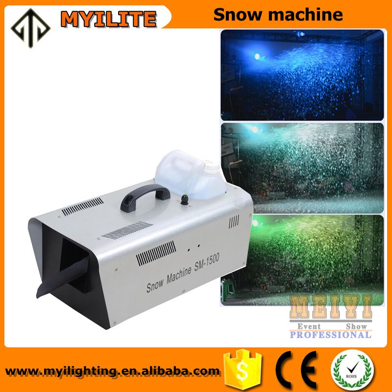 Taobao cheap price Dmx snow making 1500W/1200W/600W artificial snow maker machine