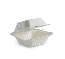 biodegradable sugarcane bagasse disposable container hamburger box