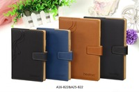 Customized office supply PU cover notebook with button