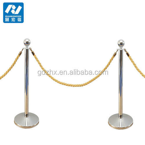 crowd control stand rope pole barrier