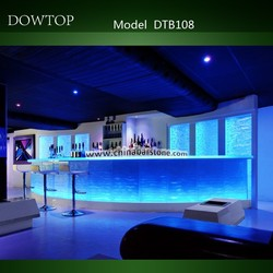 High end luxury bar furniture modern design glowing lighted led bar counter for sale